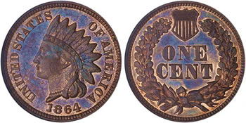 1864 Indian Head Cent