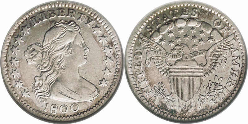 Draped Bust Half Dime  Eagle with Shield Reverse