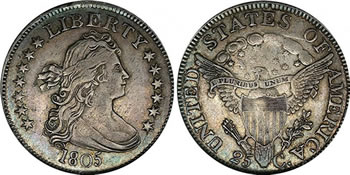 1805 Draped Bust Quarter