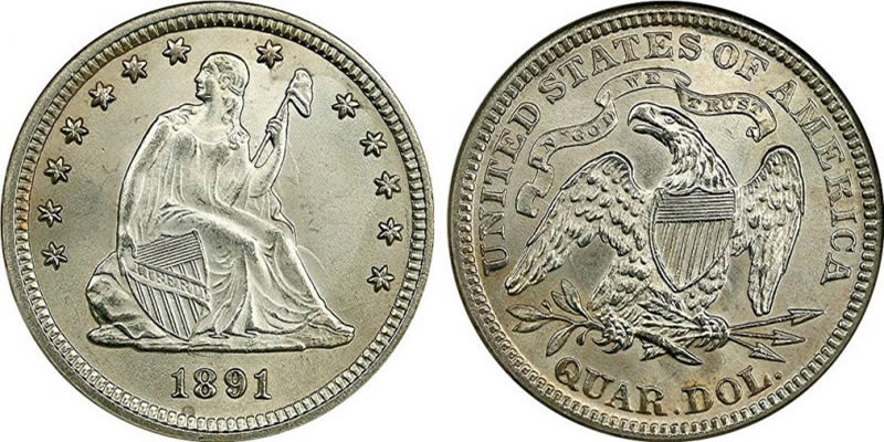 Seated Liberty Quarter