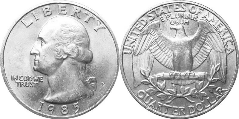 1985 Washington Quarter