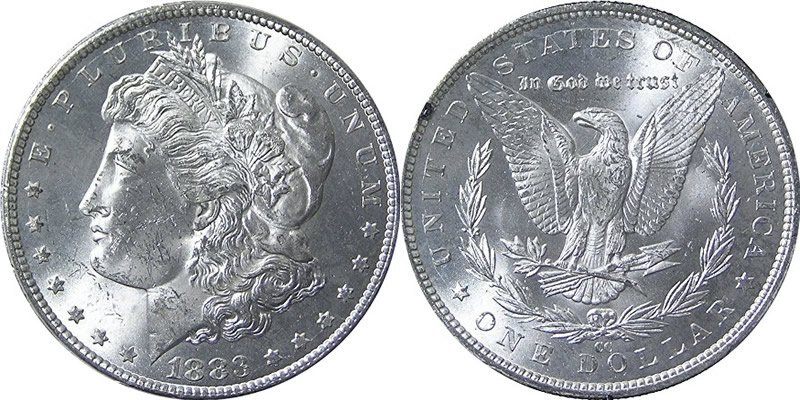 1883 CC Morgan Dollar 