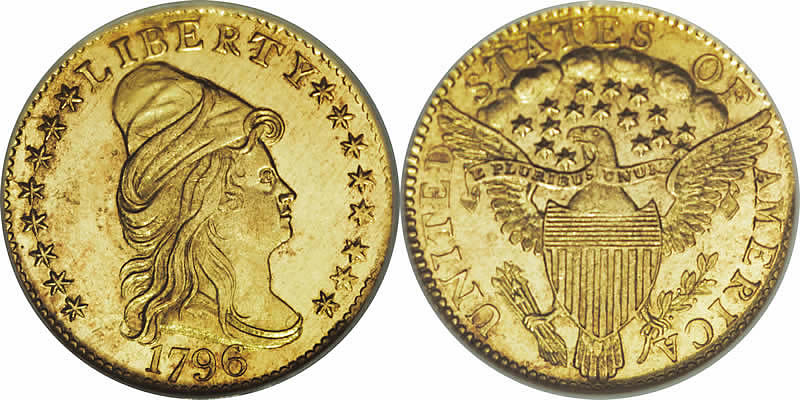  1796 Capped Bust Quarter Eagle