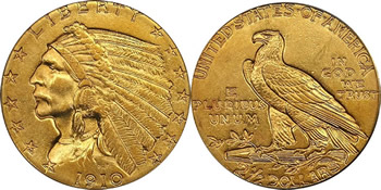1908 - 1929 Indian Head Quarter Eagle