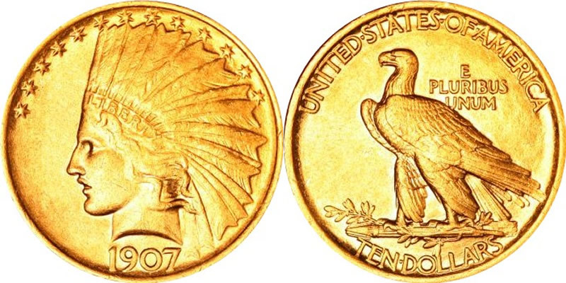 1907 Indian Head Gold Eagle