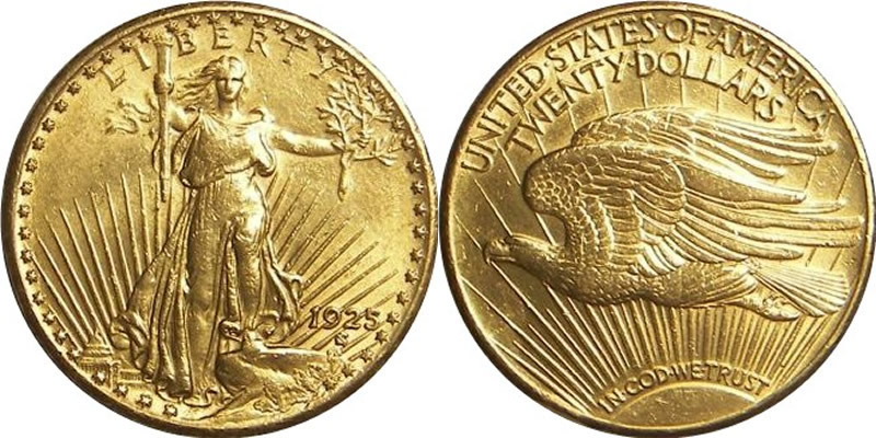 1925 S Saint gaudens Double Eagle