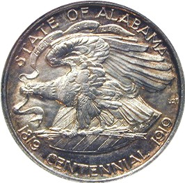 Alabama Centennial Half Dollar Commemorative Reverse