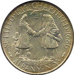 1936 Albany Charter Half Dollar Commemorative Obverse