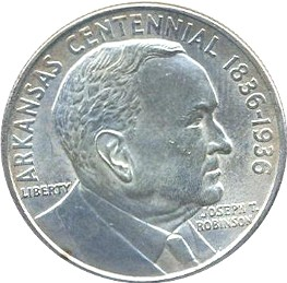 Arkansas-Robinson Half Dollar Commemorative Obverse