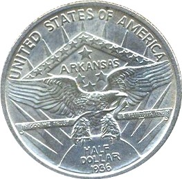 Arkansas-Robinson Half Dollar Commemorative Reverse