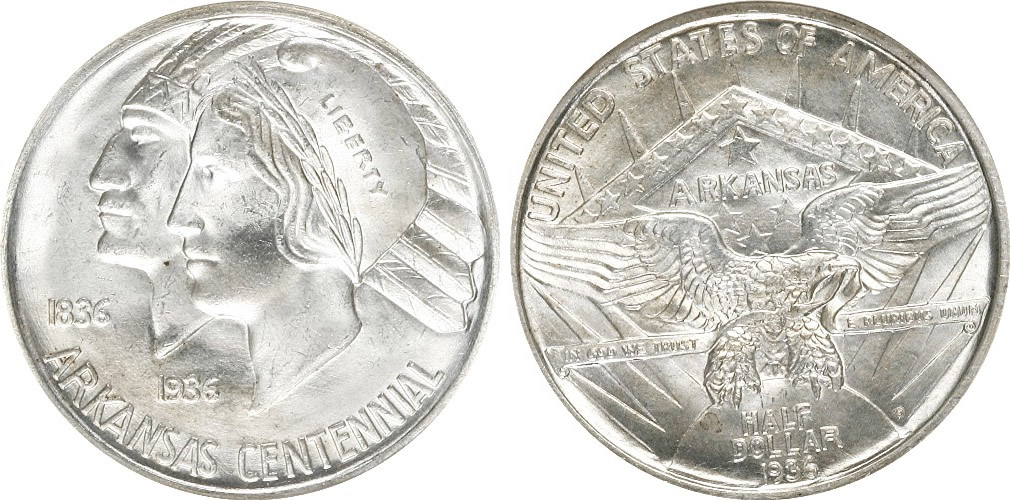 Arkansas Centennial Half Dollar Commemorative History