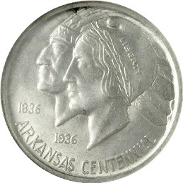 Arkansas Centennial Half Dollar Commemorative Obverse