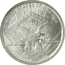 Arkansas Centennial Half Dollar Commemorative Reverse