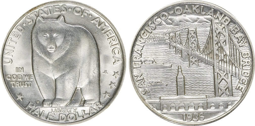 Bay Bridge Half Dollar Commemorative