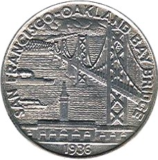 Bay Bridge Half Dollar Commemorative Reverse