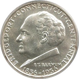 Bridgeport Centennial Half Dollar Commemorative Obverse