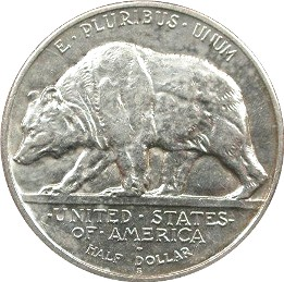 California Diamond Jubilee Half Dollar Commemorative Reverse