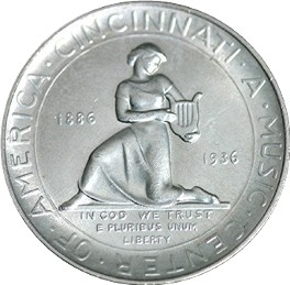 Cincinnati Music Center Half Dollar Commemorative Reverse