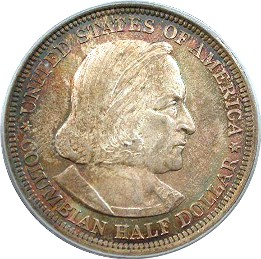 Columbian Exposition Half Dollar Commemorative Obverse