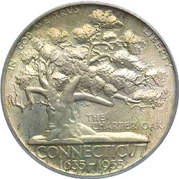 Connecticut Tercentenary Half Dollar Commemorative Obverse