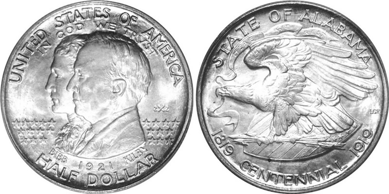 1921 Alabama Centennial Half Dollar Commemorative