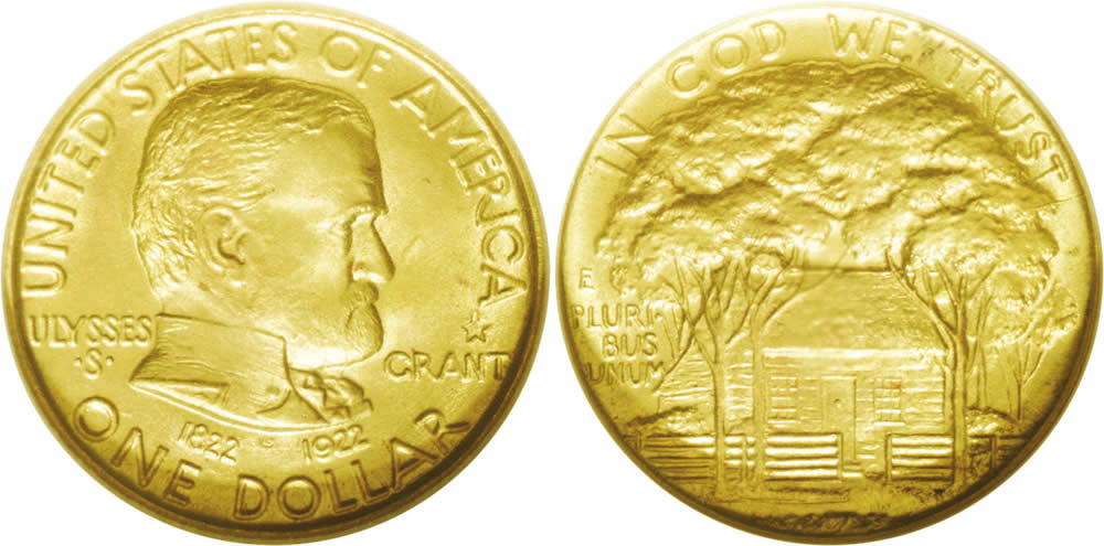 Grant Centennial Gold Dollar Commemorative