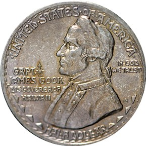 Hawaii Sesquicentennial Half Dollar Commemorative Obverse