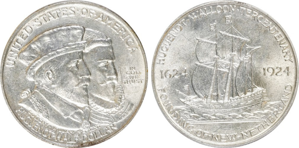 Huguenot-Walloon Half Dollar Commemorative