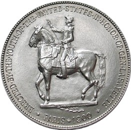 Lafayette Memorial Silver Dollar Commemorative Reverse