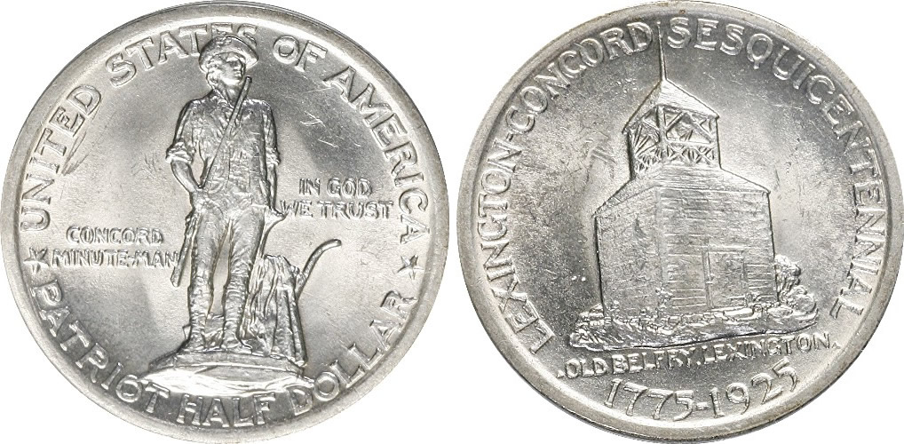 Lexington-Concord Sesquicentennial Half Dollar Commemorative