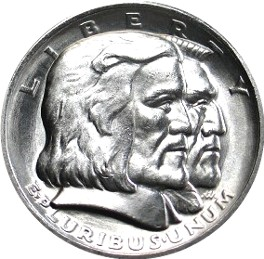 Long Island Tercentenary Half Dollar Commemorative Obverse
