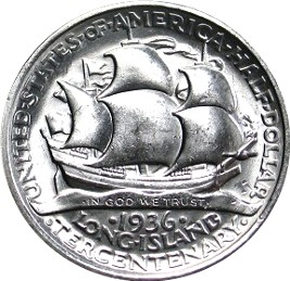 Long Island Tercentenary Half Dollar Commemorative Reverse