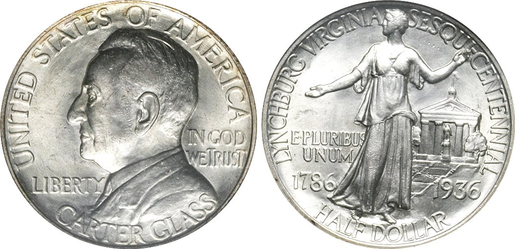 Lynchburg Sesquicentennial Half Dollar Commemorative