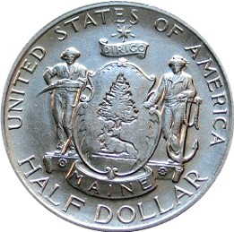 Maine Centennial Half Dollar Commemorative Obverse
