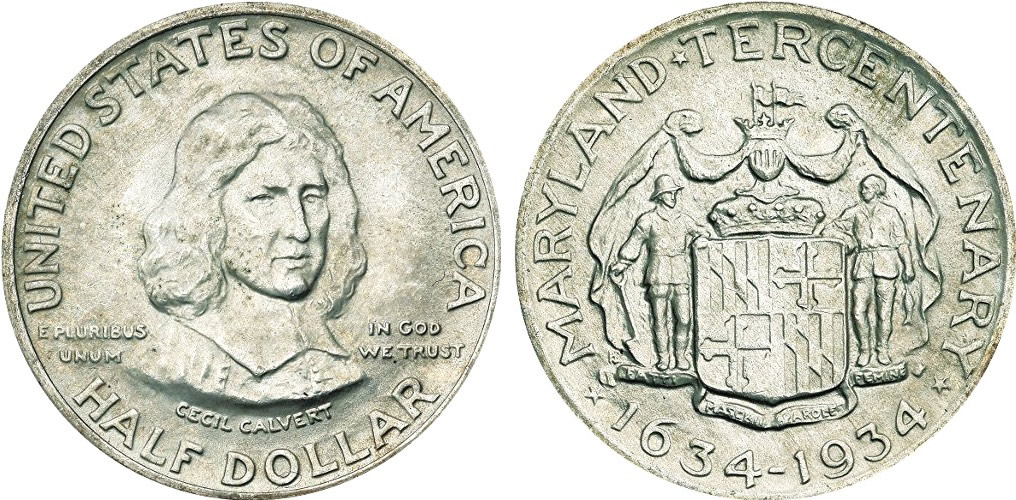 Maryland Tercentenary Half Dollar Commemorative