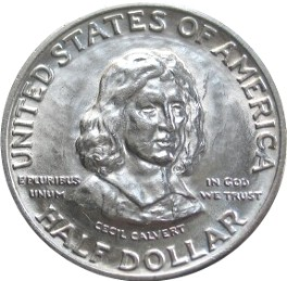 Maryland Tercentenary Half Dollar Commemorative Obverse