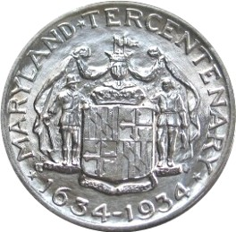 Maryland Tercentenary Half Dollar Commemorative Reverse