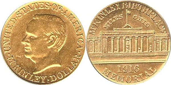 McKinley Memorial Gold Dollar Commemorative