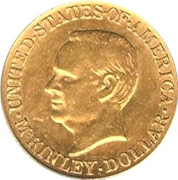 McKinley Memorial Gold Dollar Commemorative Obverse