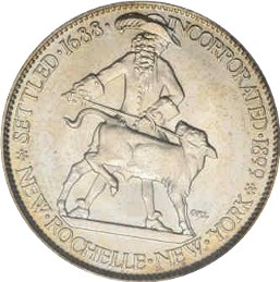 New Rochelle Half Dollar Commemorative Obverse