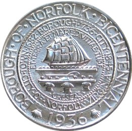 Norfolk Bicentennial Half Dollar Commemorative Obverse