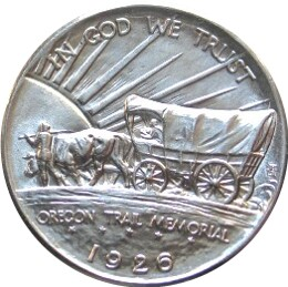 Oregon Trail Memorial Half Dollar Commemorative Reverse