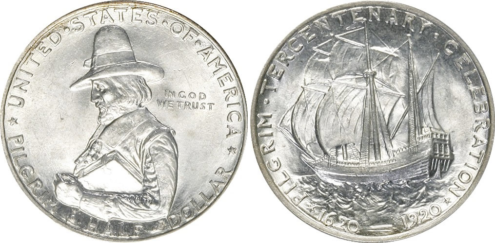 Pilgrim Tercentenary Half Dollar Commemorative