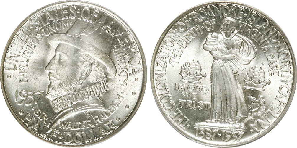 Roanoke Colony Half Dollar Commemorative