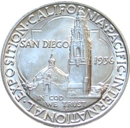 San Diego-California-Pacific Exposition Half Dollar Commemorative Reverse