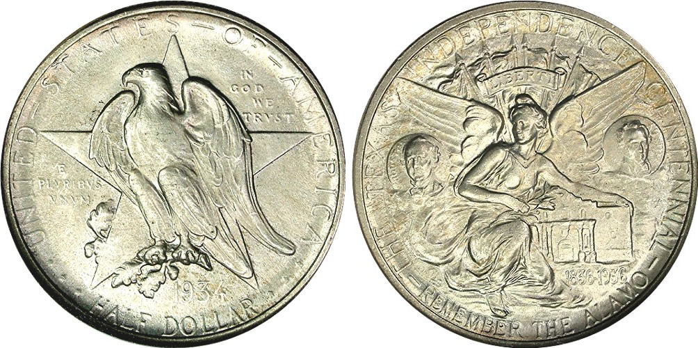 Texas Centennial Half Dollar Commemorative