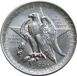 Texas Centennial Half Dollar Commemorative Obverse