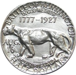Vermont / Battle of Bennington Sesquicentennial Half Dollar Commemorative Reverse