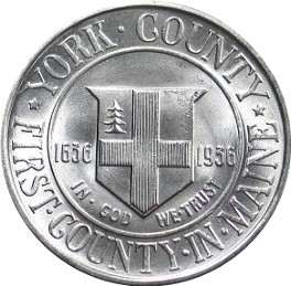 York County Tercentenary Half Dollar Commemorative Reverse