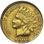 1906 GOLD Indian Head Cent Up for Sale at Stacks